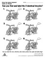 Can you find and label 2 identical bicycles?