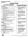 * Answer Page: Find 21 hazards and Home Fire Quiz