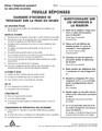 Feuille réponses : 21 dangers & Questionnaire